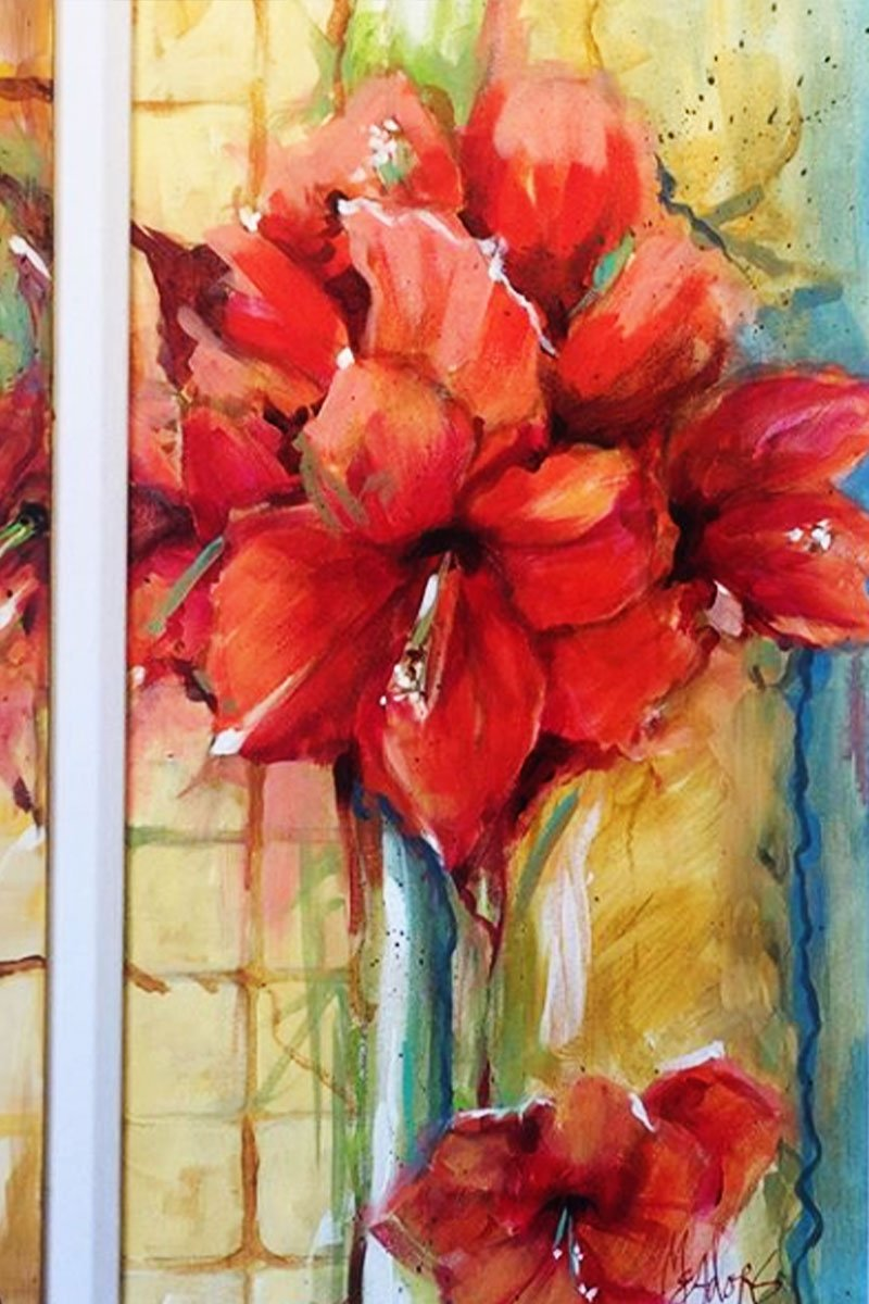 custom watercolor painting of flowers