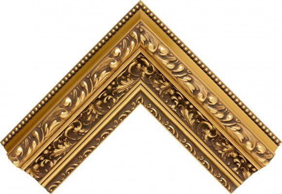 corner of a photo frame with decorative victorian pattern